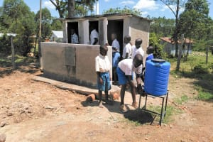 The Water Project: Sabane Primary School -  Latrines And Handwashing Station