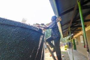 The Water Project: Mukunyuku RC Primary School -  Gutter System Installation