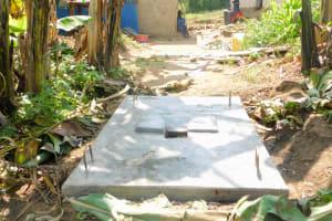 The Water Project: Bukhanga Community, Indangasi Spring -  Finished Sanplat