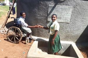 The Water Project: Precious School Kapsambo Secondary -  Finished Tank