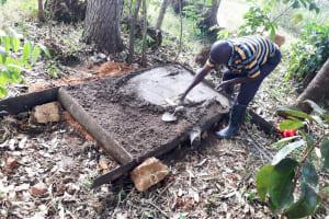 The Water Project: Luyeshe Community, Matolo Spring -  Sanitation Platform Construction