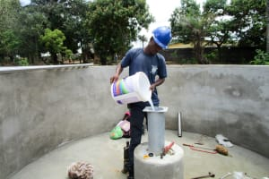 The Water Project: Tulun Community, Hope Assembly of God School and Church -  Chlorination