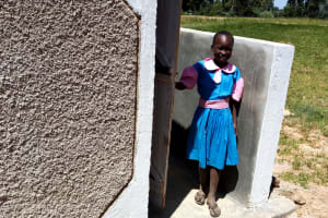 The Water Project: Kapsotik Primary School -  Finished Latrines