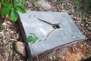 The Water Project: Luyeshe Community, Matolo Spring -  Finished Sanitation Platform