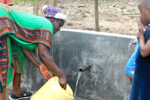 The Water Project: Bukhanga Community, Indangasi Spring -  Flowing Water