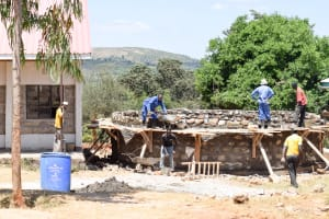 The Water Project: Ngaa Secondary School -  Tank Construction