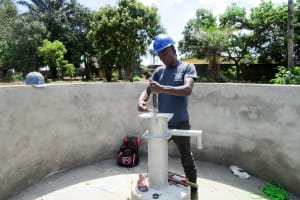 The Water Project: Tulun Community, Hope Assembly of God School and Church -  Pump Installation