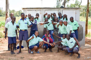 The Water Project: Mukunyuku RC Primary School -  Finished Latrines