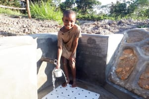 The Water Project: Luyeshe Community, Matolo Spring -  Flowing Water