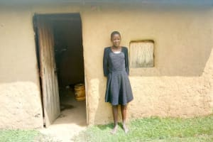 The Water Project: Lukova Community, Wasike Spring -  A Girl At Her Home