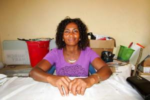 The Water Project: Tulun Community, Hope Assembly of God School and Church -  Headmistress Bintu Sarah Koroma