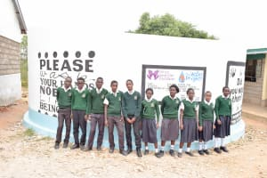 The Water Project: Ngaa Secondary School -  Finished Tank