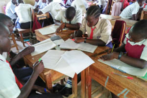 The Water Project: Imanga Secondary School -  Students In Class