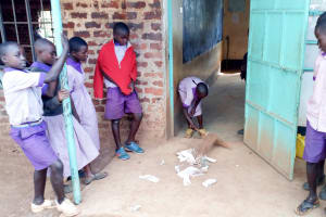 The Water Project: Magaka Primary School -  Students Cleaning Their Classroom