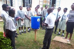 The Water Project: Precious School Kapsambo Secondary -  Handwashing Training