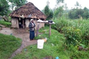 The Water Project: Bukhakunga Community, Khayati Spring -  Leonida Outside Her Home