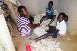 The Water Project: Emulakha Community, Nalianya Spring -  Shaving Maize