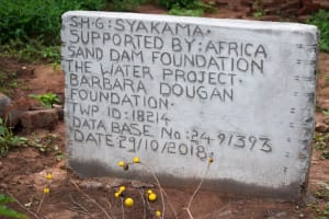 The Water Project: Syatu Community A -  Well Plaque