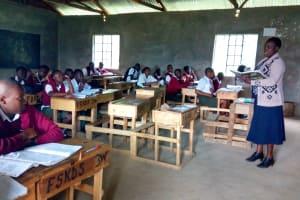 The Water Project: Kaimosi Demonstration Secondary School -  In Class