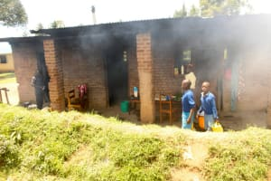 The Water Project: Lumakanda Township Primary School -  Smokey Kitchen Area