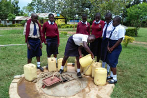 The Water Project: Imanga Secondary School -  Fetching Water