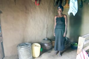 The Water Project: Lukova Community, Wasike Spring -  Water Storage