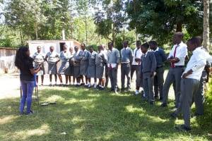 The Water Project: St. John Cheptech Secondary School -  Handwashing Training