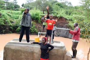 The Water Project: Uthunga Community A -  Pump Working