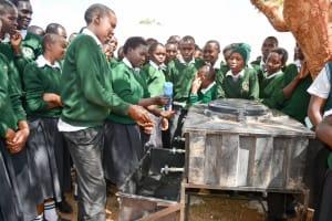 The Water Project: Ngaa Secondary School -  Handwashing Training