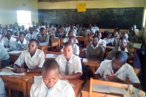The Water Project: Ebubere Mixed Secondary School -  Students In Class