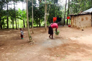 The Water Project: Emulakha Community, Nalianya Spring -  Sweeping The Compound
