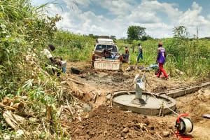 The Water Project: Nyakarongo Center Community -  Well Pad