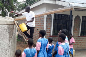 The Water Project: Kapsotik Primary School -  Training On Tank Care