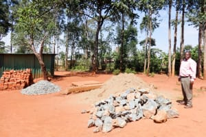 The Water Project: Shihalia Primary School -  Some Materials Delivered For Construction