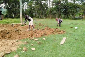 The Water Project: Sabane Primary School -  Clearing Land