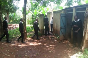 The Water Project: Lwanda Secondary School -  Line For Latrines