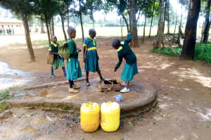 The Water Project: Majengo Primary School -  Fetching Water