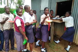 The Water Project: Imanga Secondary School -  Getting School Lunch