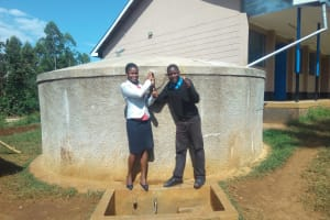 The Water Project: El'longo Secondary School -  Margaret Egesa And Shanif Lungao