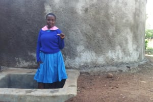The Water Project: Lukala Primary School -  Columba Murono At The Tank