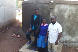 The Water Project: Lukala Primary School -  Field Officer Jemmimah Khasoha Columba Murono And John Olwanda