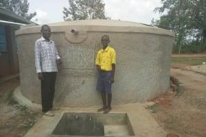 The Water Project: Emukhalari Primary School -  Isaac Makokha And Frankline Omusonga