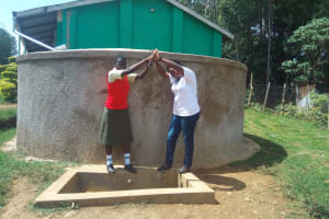 The Water Project: Malinya Girls Secondary School -  Fidelia Ajwang And Field Officer Jacklyne Chelagat