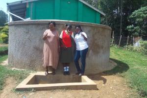 The Water Project: Malinya Girls Secondary School -  Rita Meli Fidelia Ajwang And Field Officer Jacklyne Chelagat