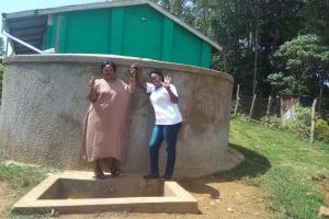 The Water Project: Malinya Girls Secondary School -  Rita Meli And Field Officer Jacklyne Chelagat