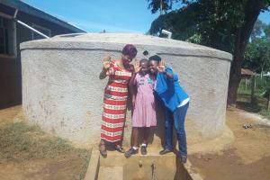 The Water Project: Irenji Primary School -  Rodah Muhati Venus Muhonje And Field Officer Jacklyne Chelegat