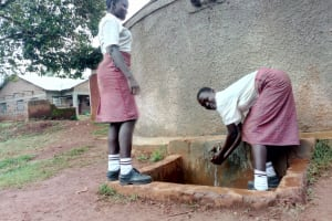 The Water Project: Lureko Girls Secondary School -  Girls Fetch Water From The Tank