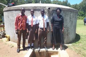 The Water Project: Shiyabo Secondary School -  Field Officer Jonathan Mutai Joshua Wambire And Principal Joyce Kisali