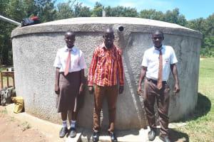 The Water Project: Shiyabo Secondary School -  Field Officer Jonathan Mutai And Joshua Wambire
