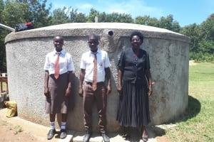 The Water Project: Shiyabo Secondary School -  Joshua Wambire With Principal Joyce Kisali